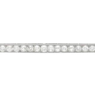 5.45 ct Diamond and Platinum Bar Brooch - Antique Circa 1910