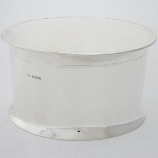 Antique Sterling Silver Biscuit Box - 1930