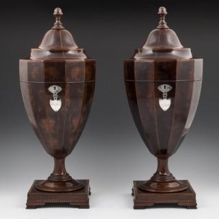 Georgian Mahogany Cutlery Urns