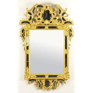 Antique French Giltwood Overmantel Rococo Mirror C1780 18th Century