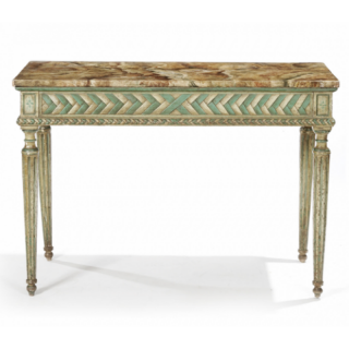 AN 18TH CENTURY  NEOCLASSICAL DECORATED ITALIAN CONSOLE
