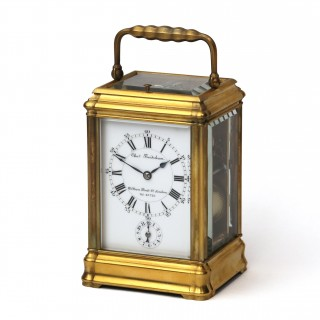 Strike repeat Alarm Carriage Clock by Henri Jacot for Frodsham