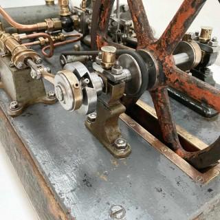 Late Nineteenth Century Stationary Steam Engine Model