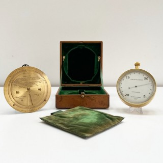 Leather Cased Forecasting Aneroid Barometer with Forecaster by Negretti & Zambra