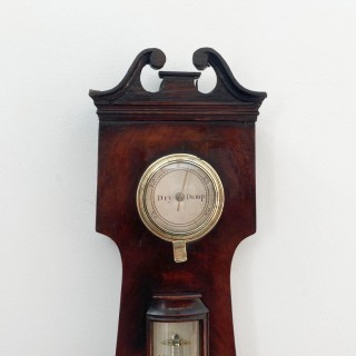 William IV Flame Mahogany Wheel Barometer by James Jeffery London