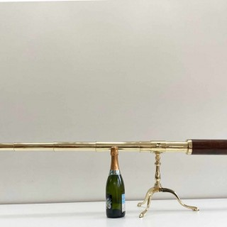 Large Eighteenth Century Five Draw Library Telescope by Dollond London