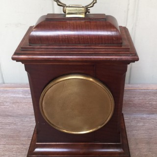 Small Mahogany 18th Century Style Bracket Clock