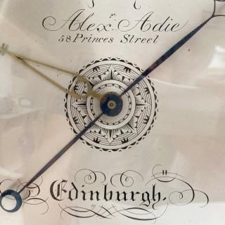 George IV Mahogany Wheel Barometer by Alexander Adie Edinburgh
