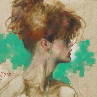 'Study of Nicole' by Michael Hyam (born 1958)