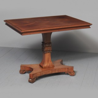 George IV Mahogany Centre Table Likely by William Trotter