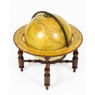 Antique Victorian Terrestrial Library Table Globe by W & A. K. Johnston,19th C