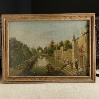 Oil On Canvas of a River Scene