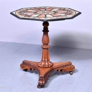 Antique Specimen Marble and Padouk Table
