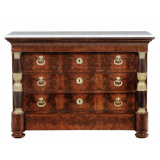 AN EMPIRE PERIOD COMMODE