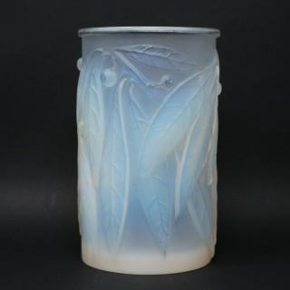 Rene Lalique Opalescent Glass 'Laurier' Vase