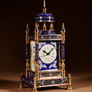 An Interesting Chinese Cloisonné and Enamel Mantel Clock.