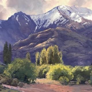 'Snow Cap, Crown Range near Wanaka, NZ' by Warwick Fuller (born 1948)