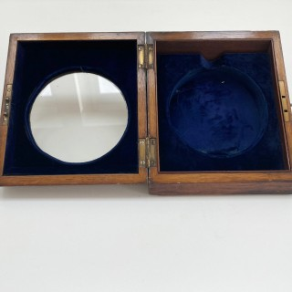 Early Victorian Oak Cased Desk Barometer by CW Dixey London