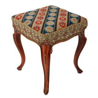 Square Victorian Rosewood Stool