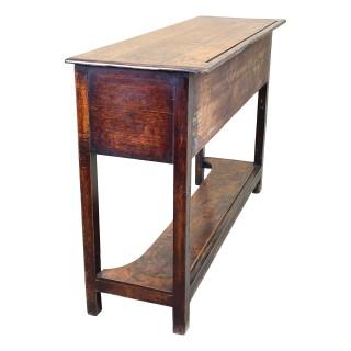 English Oak Potboard Dresser Base
