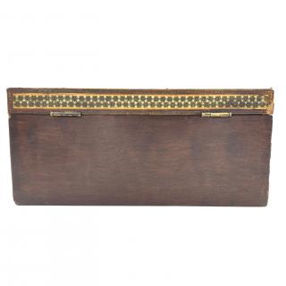 A LARGE KATAMKARI BOX, PERSIA, 19TH CENTURY