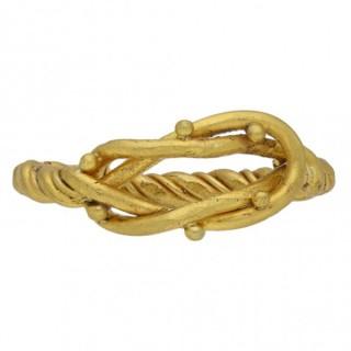 Viking gold Hercules knot ring, circa 8th-11th century AD.