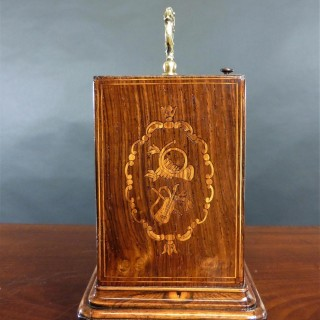 French Miniature Rosewood Campaign Clock