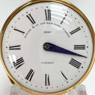 Mid Victorian Gilt Cased Patent Pedometer by Payne & Co London