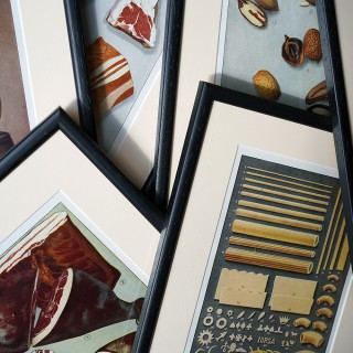 A Group of Six Framed Food Related Lithographs;
