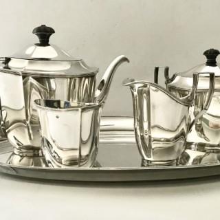 Five Piece  Silver Tea Set