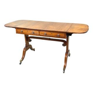 Regency English 19th Century Rosewood & Yew Sofa Table