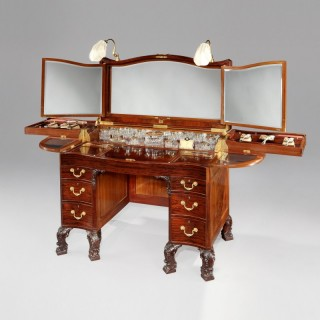 A Ladies Dressing Table Made by the Goldsmiths & Silversmiths Co. of London for His Highness Nawab of Bahawalpur Sadiq Muhammad Abbasi V