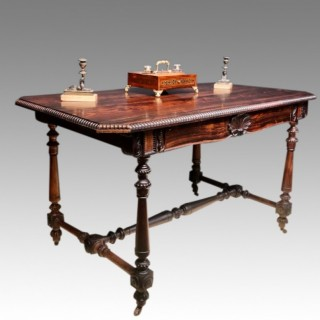 William IV rosewood writing table.