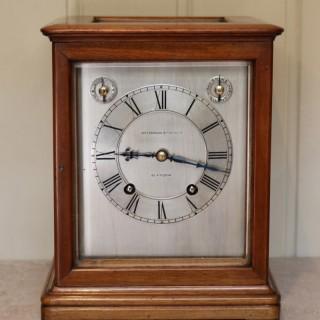 Mahogany Four Glass Ting Tang Mantel Clock
