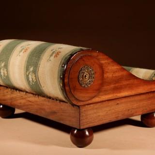 An Elegant Mahogany Gout Foot stool Continental circa 1830.