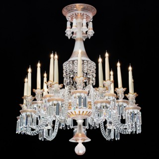 A Fine and Rare 18 Arm Crystal Chandelier byBaccarat