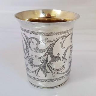 Antique Continental Silver Beaker