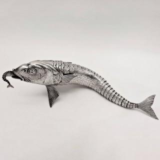 Antique Silver Fish