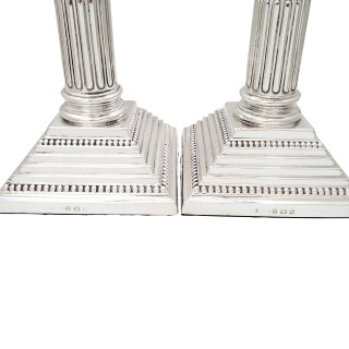 Pair of Antique Sterling Silver 10