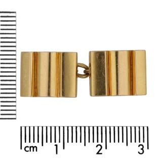 Mauboussin gold cufflinks, French, circa 1950.