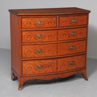 Inlaid Satinwood Chest of Drawers by S & H Jewells