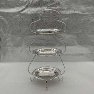 Edwardian Silverplate Three Tier Cake Stand Circa 1900 Fenton Brothers