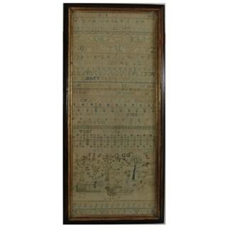 Large Antique Band Sampler, c.1725, by Mary Gatehouse