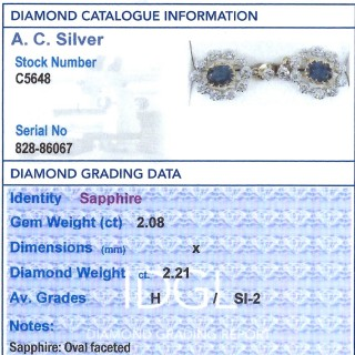 2.08 ct Sapphire and 2.21 ct Diamond, 18 ct Yellow Gold Cluster Earrings - Vintage Circa 1990