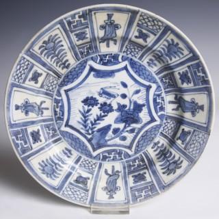 Chinese Kangxi Blue and White Export Ware Dish
