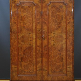 Victorian Walnut Two Door Wardrobe
