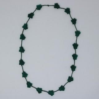 Rene Lalique Green Glass 'Feuilles De Lierre' Necklace