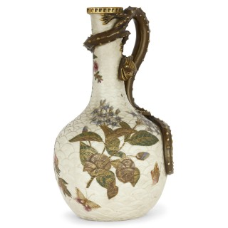 Japonisme style porcelain ewer by English firm Royal Worcester