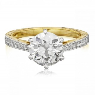1.74carat Old European Brilliant Cut Diamond Solitaire Ring by Hancocks