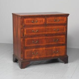 George III Inlaid Walnut Chest of Drawers